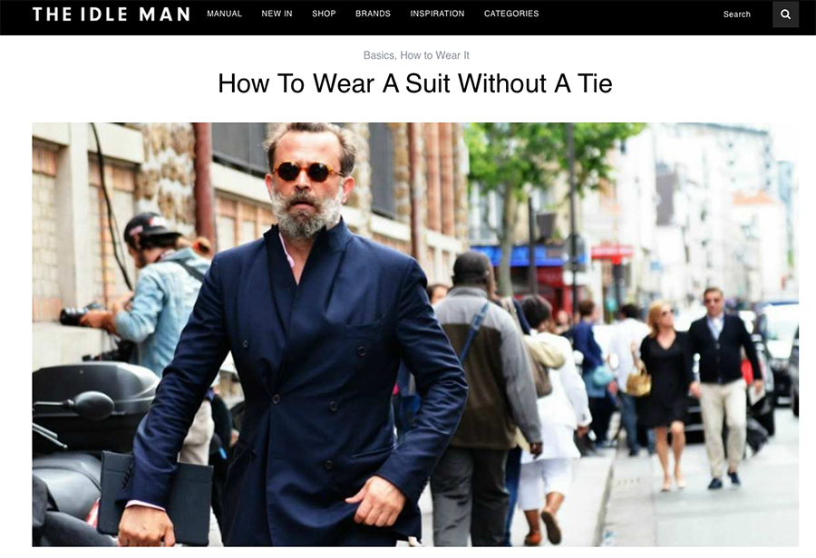 Look No Tie , How to wear a suit without a tie