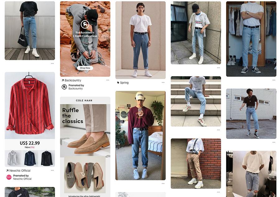 90's men fashion