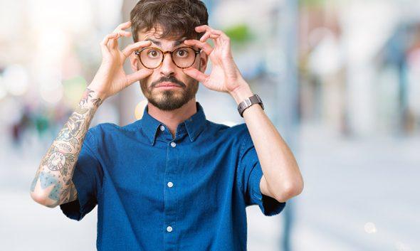Retro style round glasses