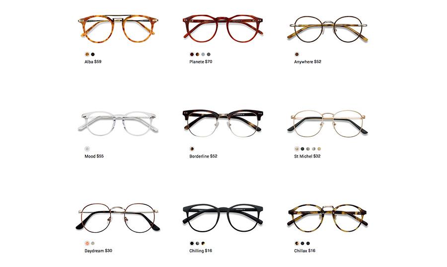 eye buy direct Retro style round glasses