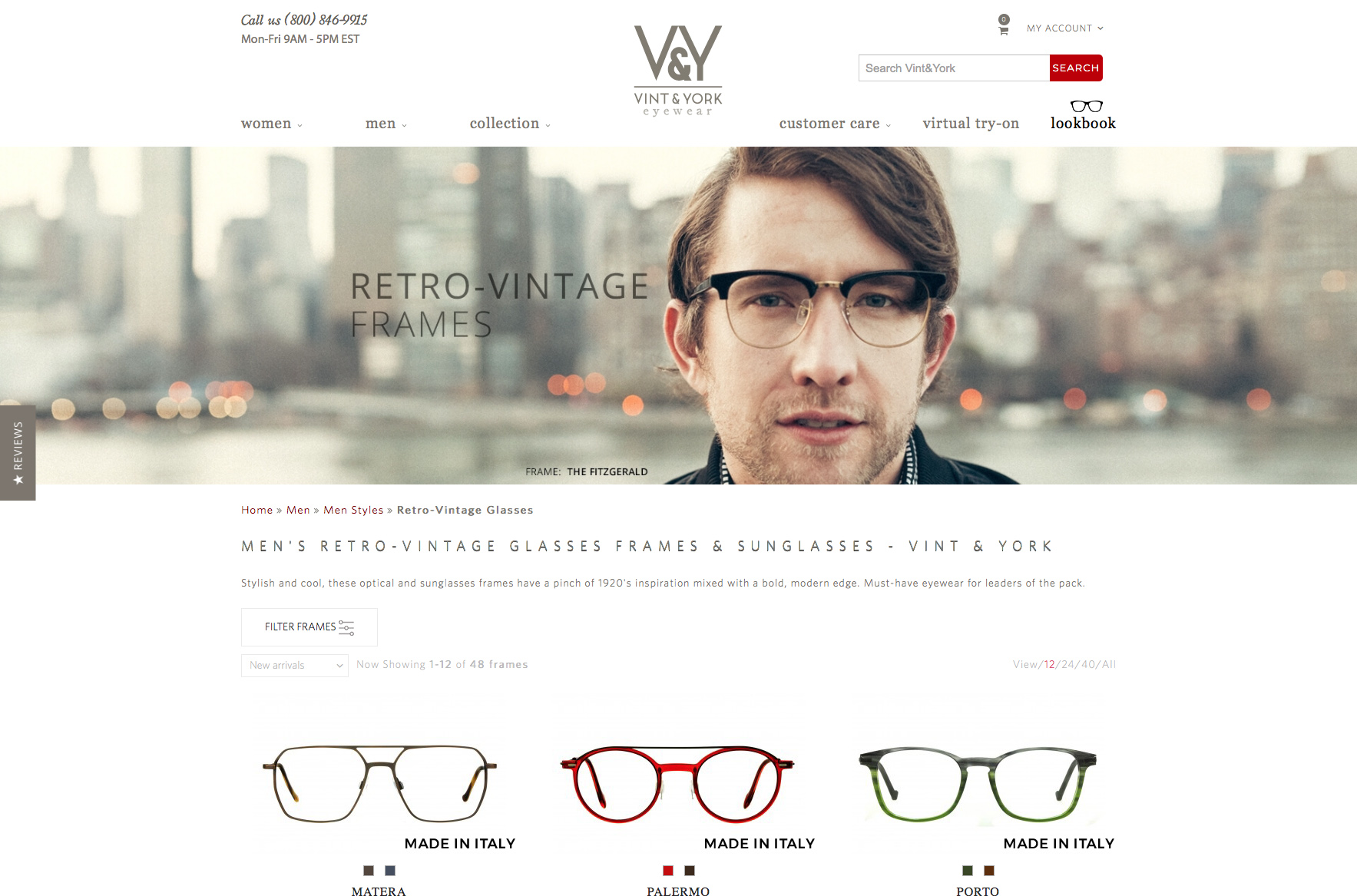 vint & york eyewear Retro style round glasses