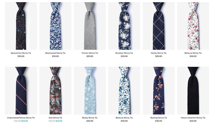 ties skinny tie