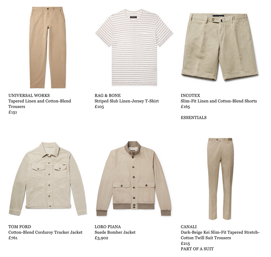 mr porter men's fashion