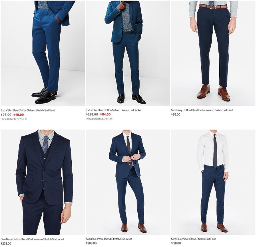 express men's blue suit