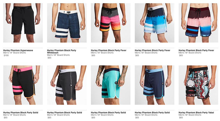hurley men's swimwear
