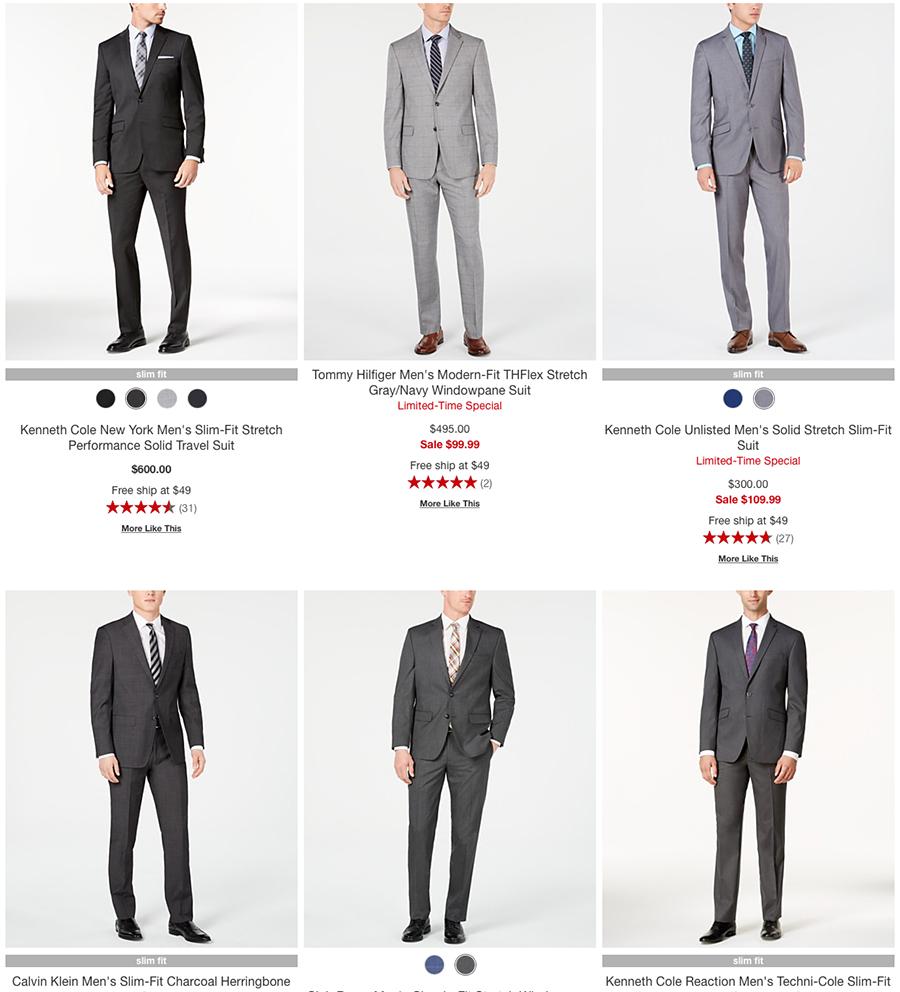 macy's men's gray suit