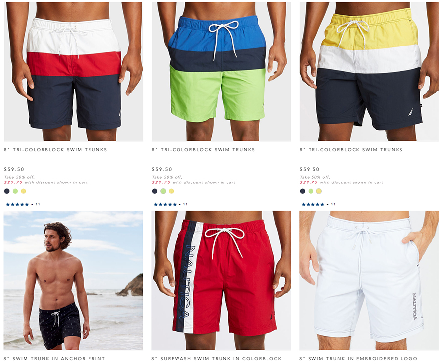 nautica men's swimwear