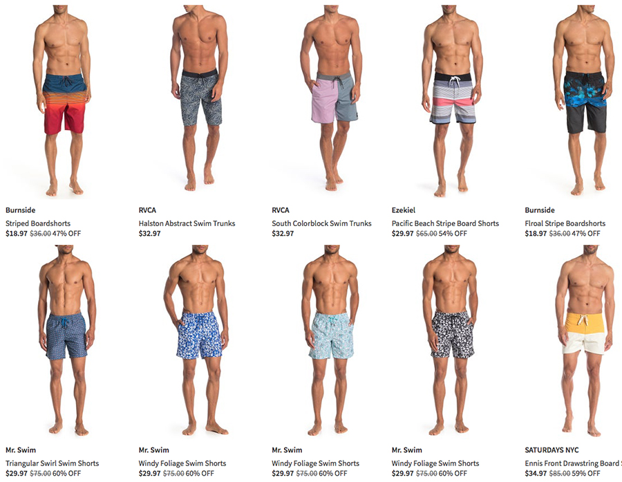 nordstrom rack men's swimwear