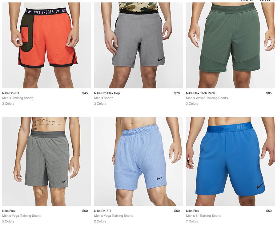 nike men shorts