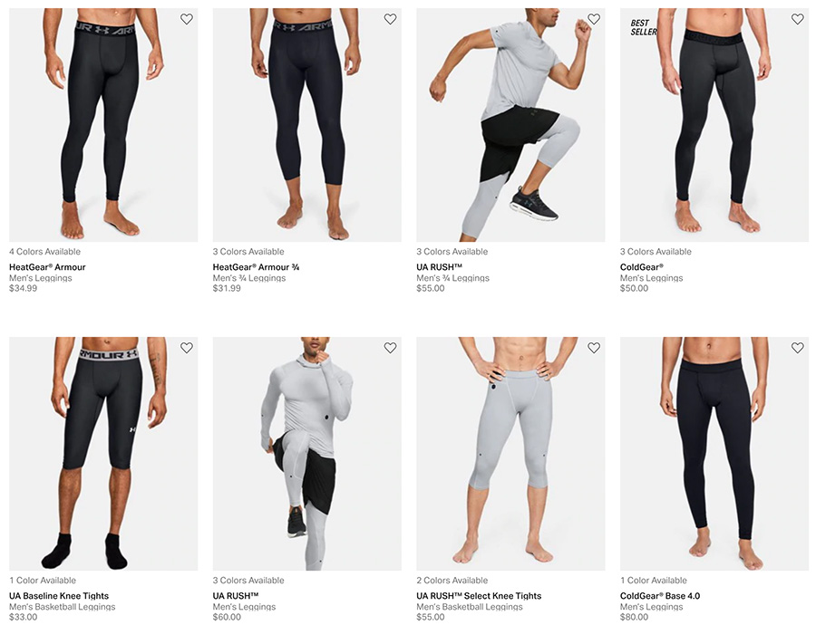 underarmour men leggings