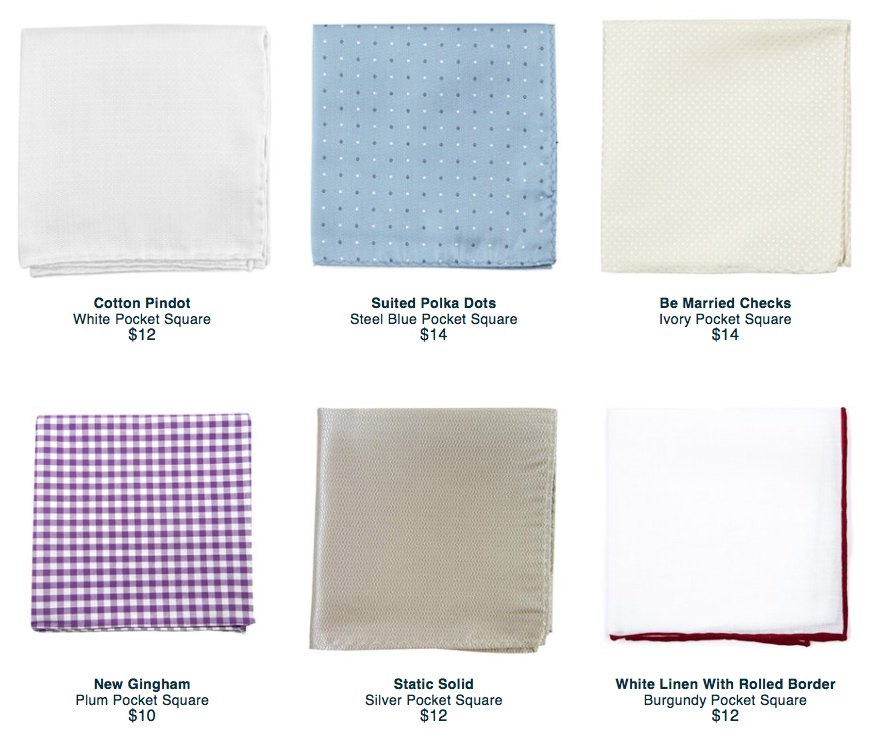 tie bar pocket square
