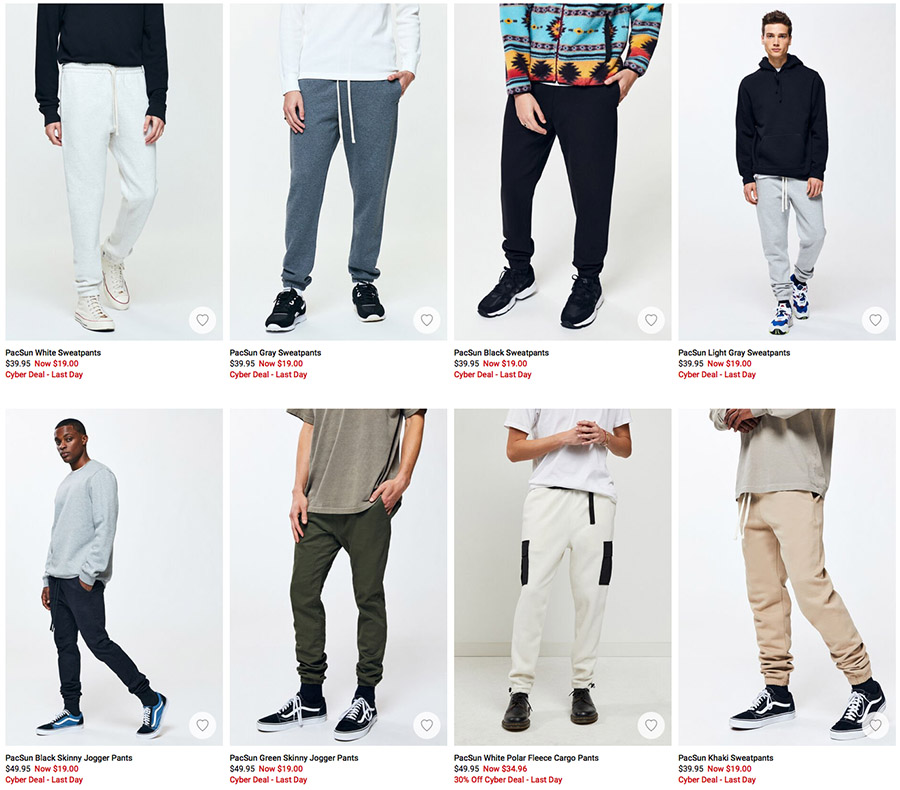 men's sweatpants PacSun